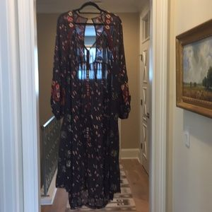 Free People black floral dress (bw)